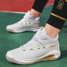 Load image into Gallery viewer, Mr.SHOES  men Air Cushion Basketball Sneakers Anti-skid High-top Basketball Shoes For Men  (White)
