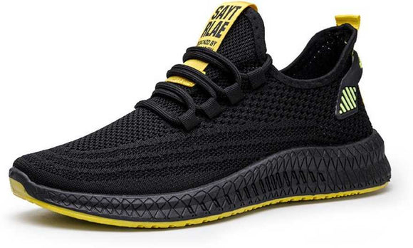 Mr.SHOES 2020 PD-2 Black YALLOW Fashion flying woven men's running shoes