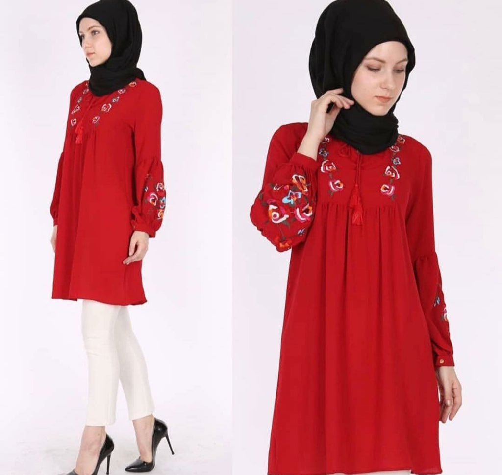 قميص أحمر طويل | Long Red Shirt