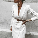 جاكيت أبيض طويل | Long White Jacket