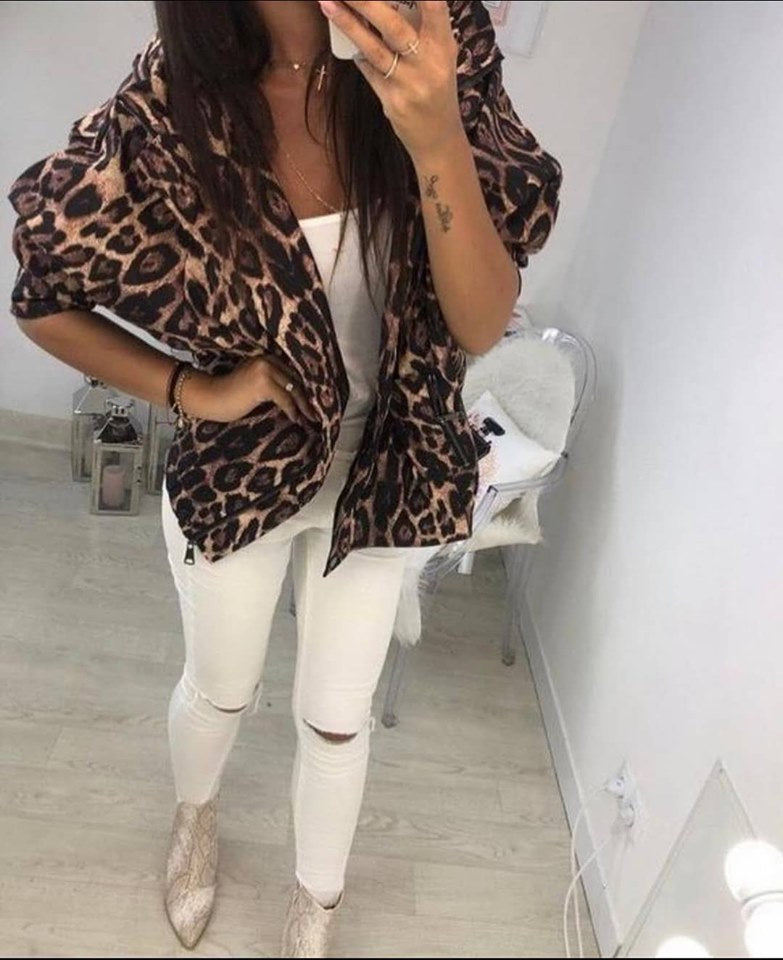 جاكيت نمري قصير | Tiger Short Jacket