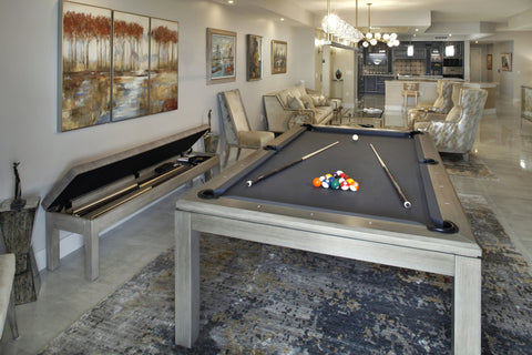 pool table bench with storage