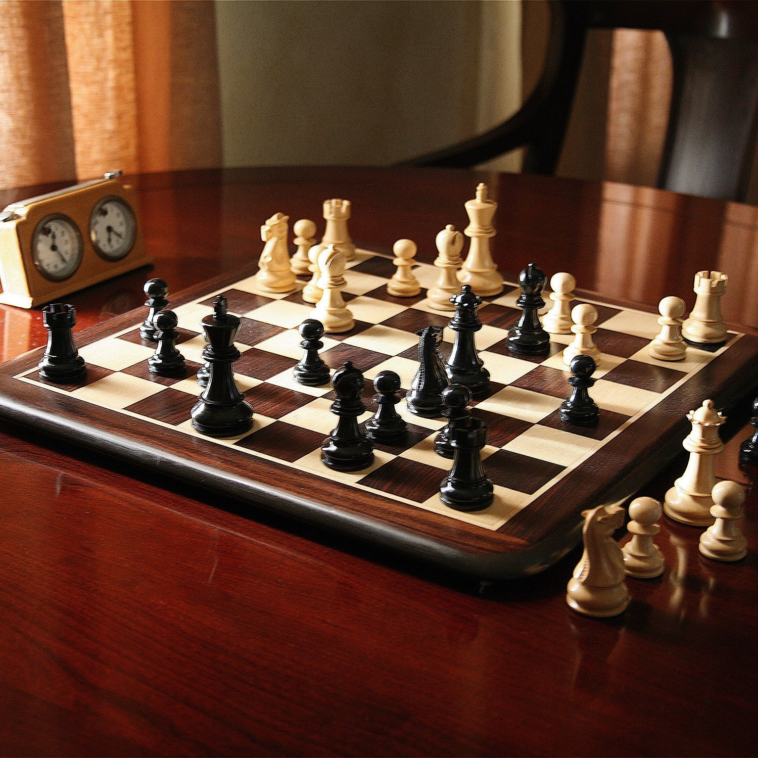 "Luxury Rosewood 21"" Chess Set"