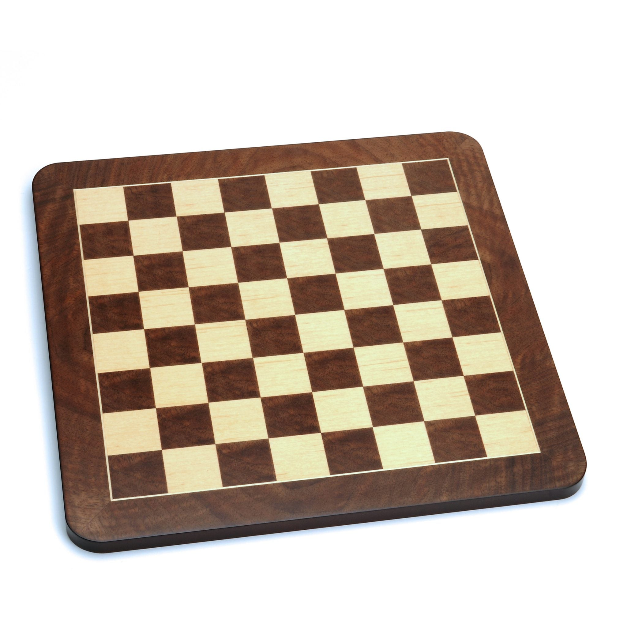 "Luxury English Walnut 21"" Chess Set"