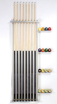 Aluminum Wall Rack #7 (squared side bars) - Blatt Billiards