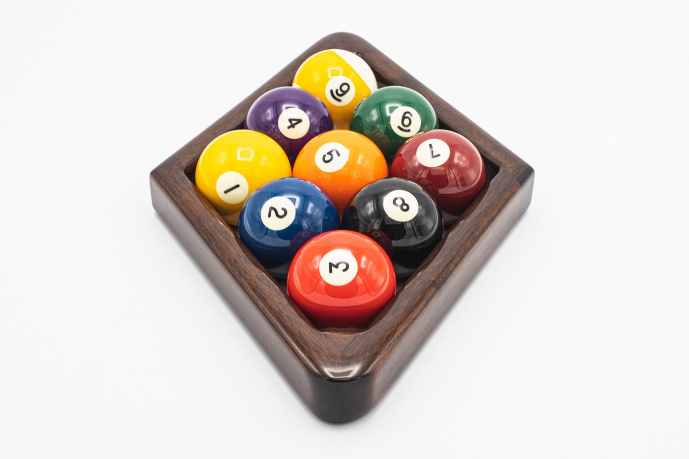 Custom Mahogany 9 Ball Rack - Blatt Billiards