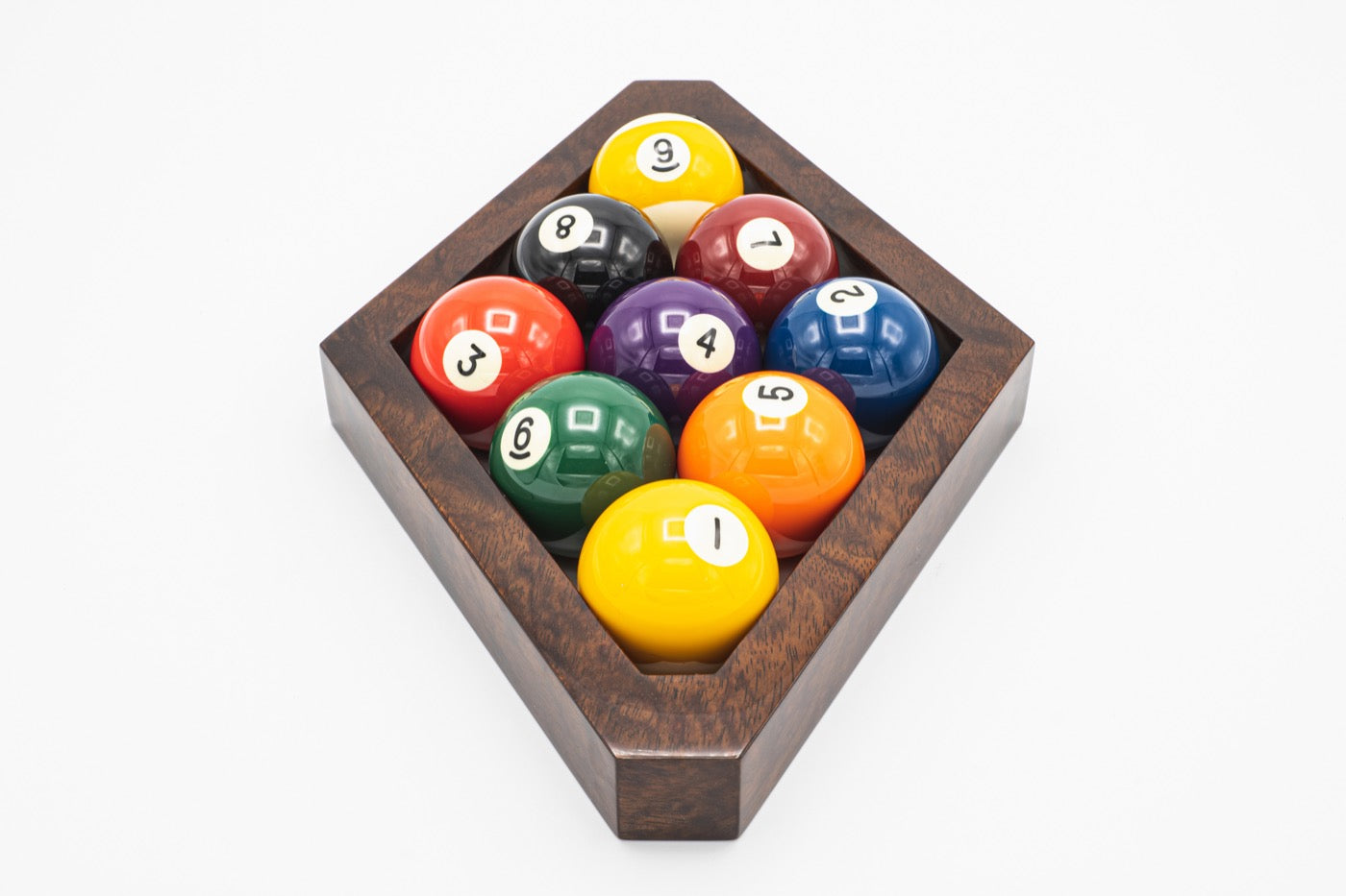 Custom Bubinga 9 Ball Rack - Blatt Billiards