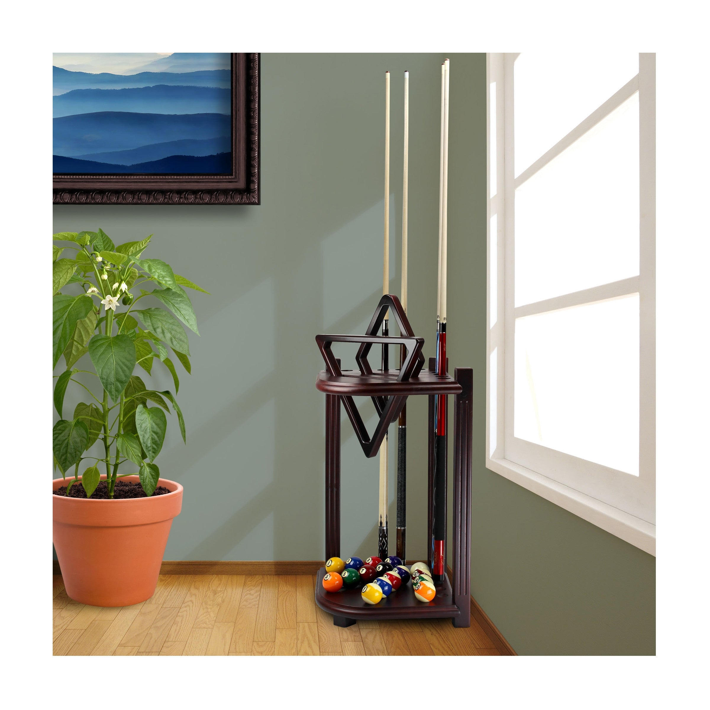 Corner Cue Rack - Blatt Billiards
