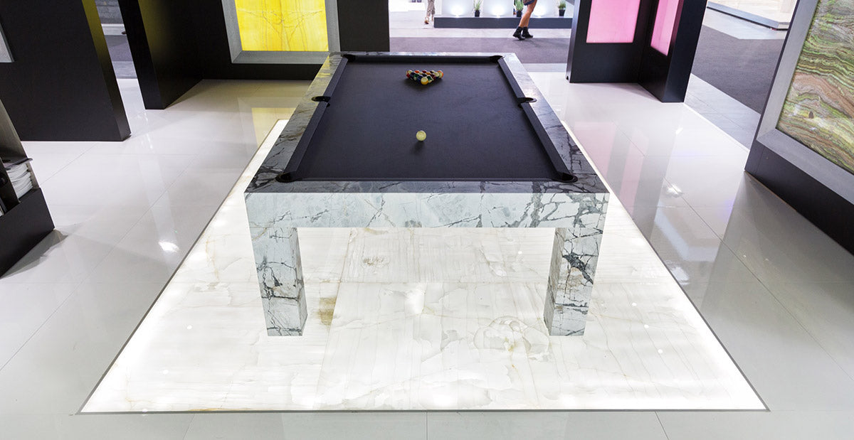 Quadra Marble (Travertine or Carrera) - Blatt Billiards