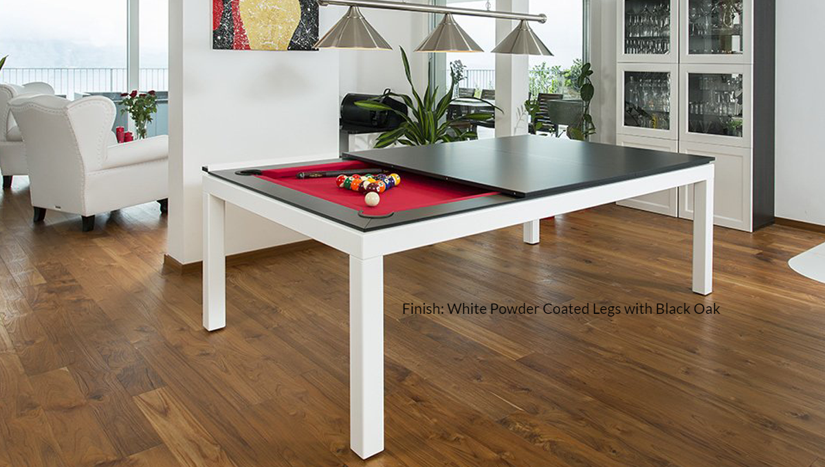 Fusion: Powder Coated Steel Legs with Wood Tops - Blatt Billiards