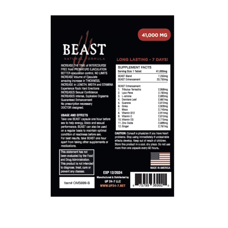 Beast Single Pill - Magic Men Australia, Beast Single Pill, BODY CARE