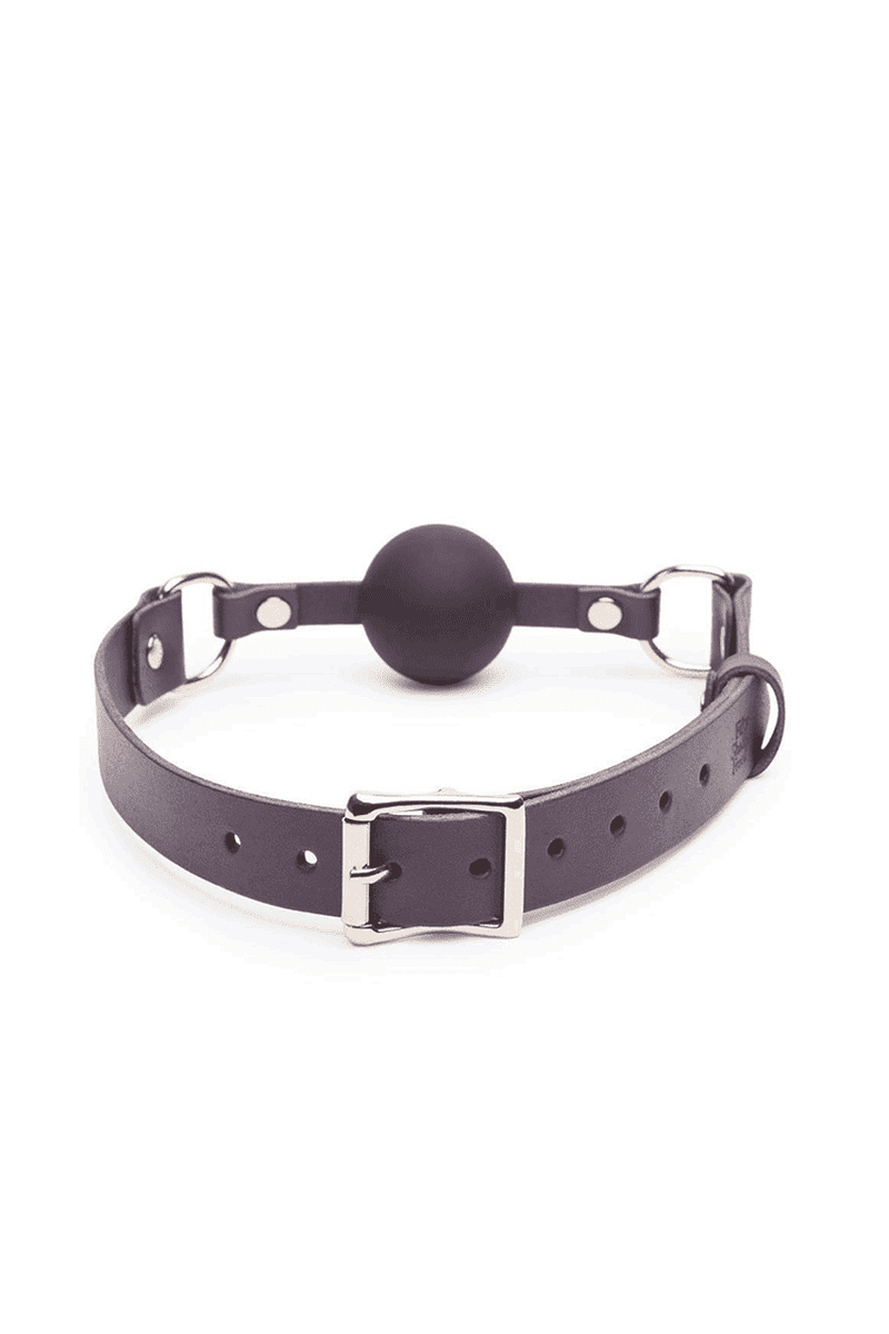 Fifty Shades Leather Ball Gag - Magic Men Australia, Fifty Shades Leather Ball Gag, Bondage; sex toys; sex toy; best sex toys; using sex toys; new sex toys; sex toys for guys; sex toy review; buy sex toys; top sex toys; cool sex toys