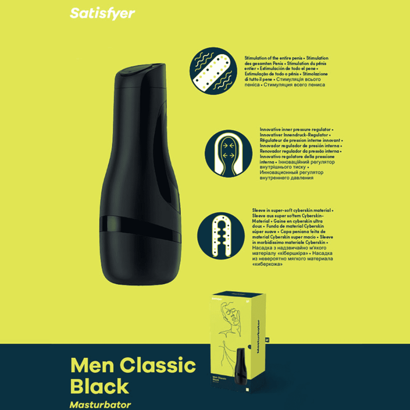 Satisfyer Men Masturbator Classic Black - Magic Men Australia, Satisfyer Men Masturbator Classic Black, toy