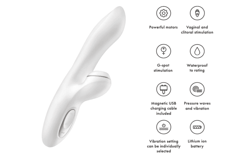 Satisfyer Pro G-Spot Rabbit Vibrator - Magic Men Australia; vibrator; vibrators; how to use a vibrator; vibrator review; g-spot vibrator; satisfyer pro g-spot rechargeable rabbit vibrator clitoral stimulator review; satisfyer pro g-spot rechargeable rabbit vibrator with clitoral suction review; satisfyer pro rechargeable clitoral suction g-spot rabbit vibrator; satisfyer pro rechargeable g-spot rabbit vibrator review