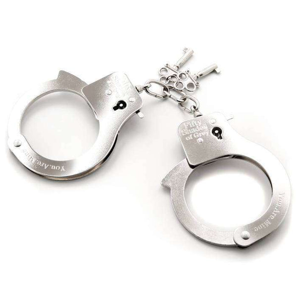 Fifty Shades of Grey You Are Mine Metal Handcuffs - Magic Men Australia