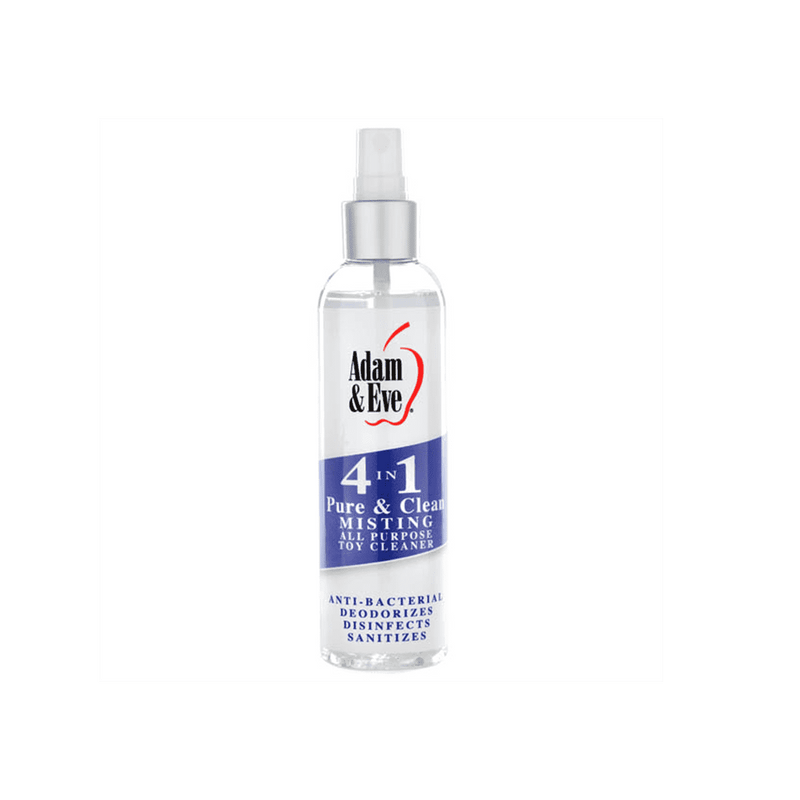 Adam & Eve 4 In 1 Pure & Clean Misting Cleaner - Magic Men Australia, Adam & Eve 4 In 1 Pure & Clean Misting Cleaner, Cleaners;  sex toy cleaners; toy cleaners; antibacterial sex toy cleaner; best sex toy cleaner; organic sex toy cleaner; how to use sex toy cleaner