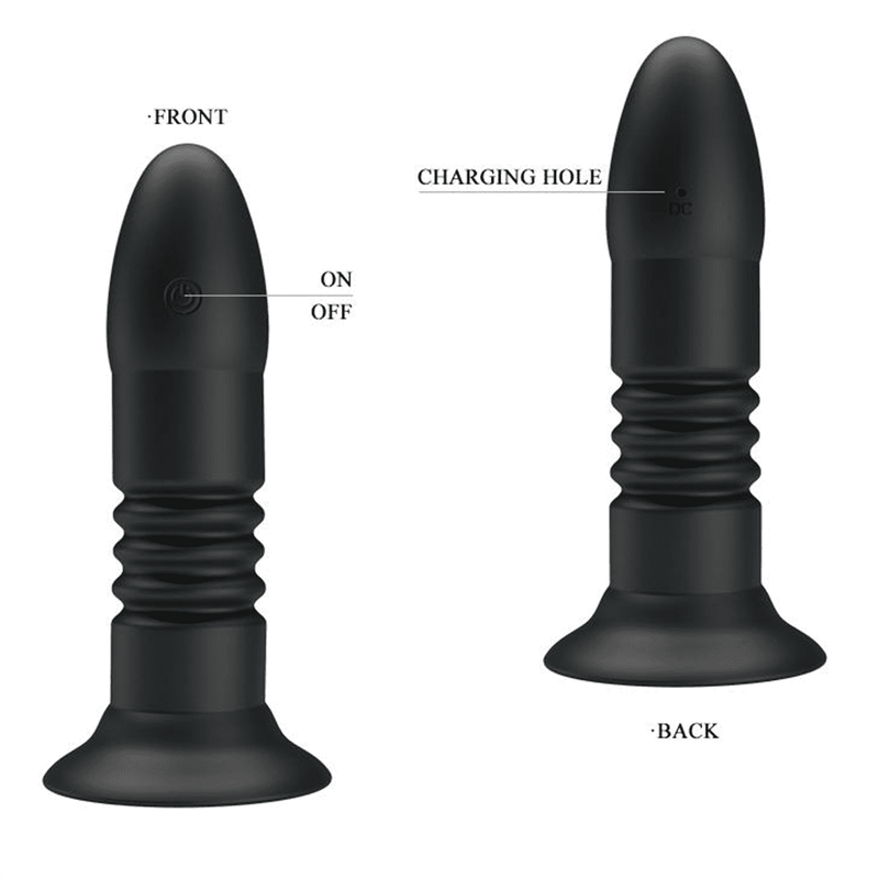 Remote Magic Jingers Butt Plug Black (138mm) - Magic Men Australia