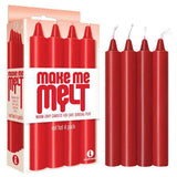 The 9's Make Me Melt Drip Candles 4-Pk, Red Hot