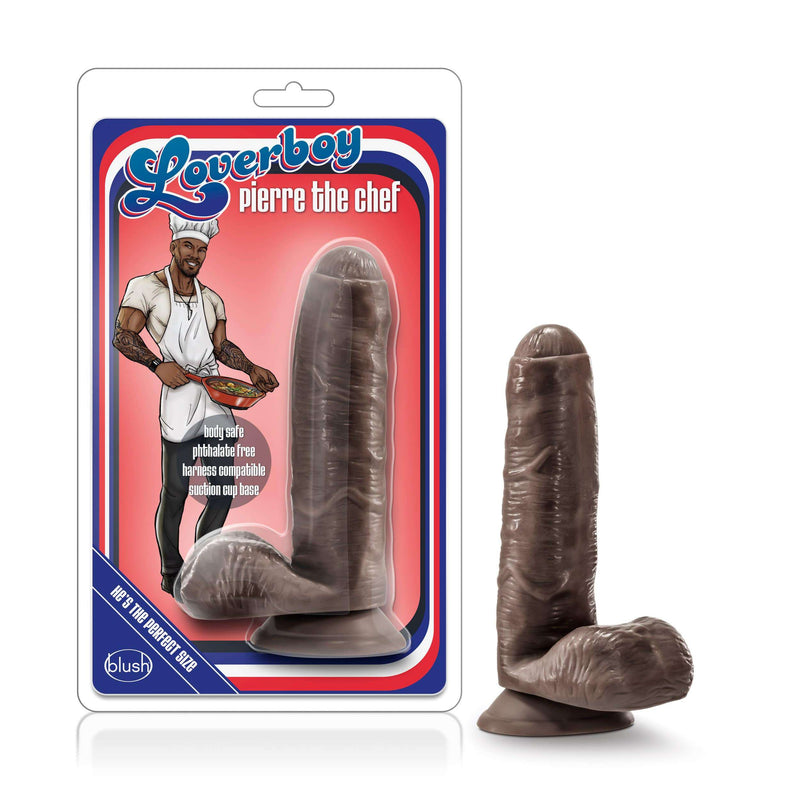 "Loverboy Pierre The Chef Dildo 7"" Realistic Cock - Chocolate - Magic Men Australia"