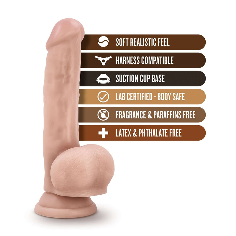 "Loverboy Mr. Jackhammer Dildo 8"" Realistic Cock - Beige - Magic Men Australia"