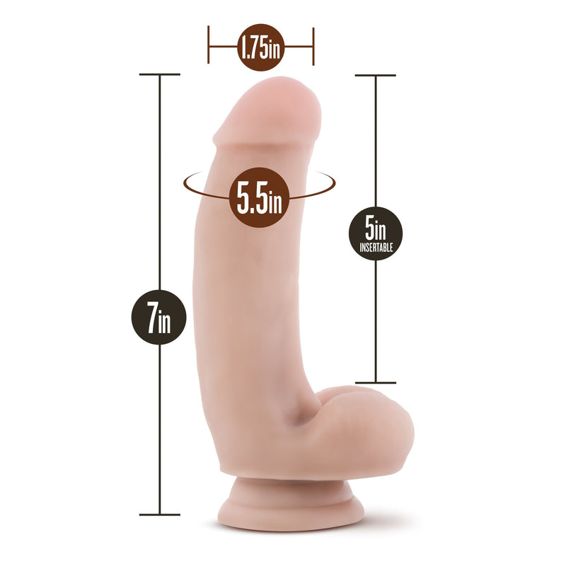 "Loverboy The Pizza Boy Dildo 7"" Realistic Cock - Beige - Magic Men Australia"
