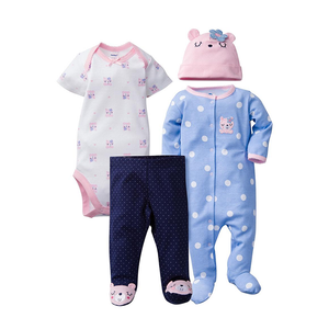 Gerber Girls 4-pc Essentials set, Pink / Blue / Bears