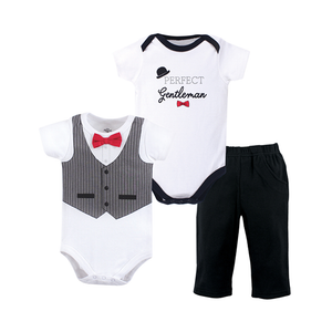 Little Treasure Boys 3-pc Bodysuit & Long Pant set - Perfect Gentleman