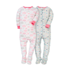Gerber Girls 2-pk Snug Fit Sleep & Play set, Stars/Clouds