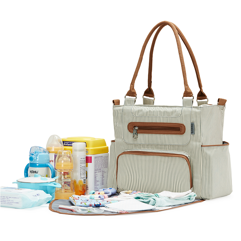 SoHo Collection 7-pc Diaper Bag - Grand Central