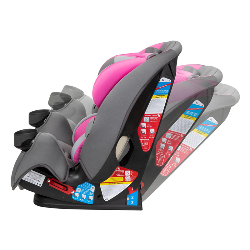 Safety 1st EverFit 3-in-1 Convertible Car Seat, Pink