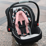 Travel Bug 2-in-1 Head Support for Car Seats, Strollers & Bouncers, Teal/Pink/Grey