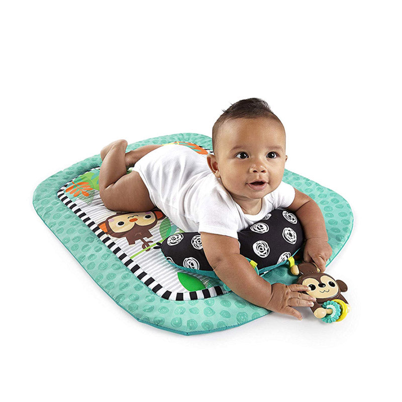 Bright Starts Tummy Time Activity Prop Mat, Safari
