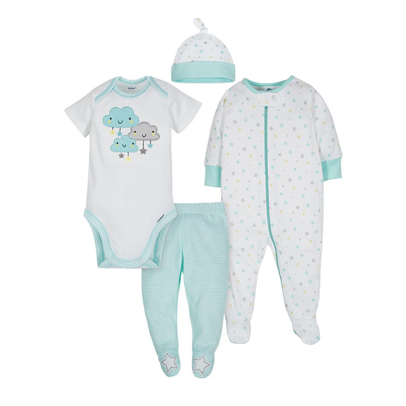 Gerber Unisex 4-pc Take Me Home set - Clouds