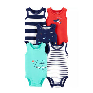 Carter's Boys 5-pk Sleeveless Bodysuit set, Nautical