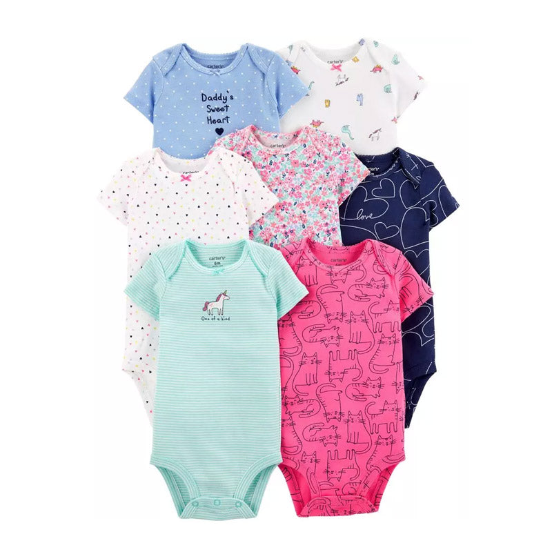 Carter's Girls 7-pk Bodysuit set, One of a Kind