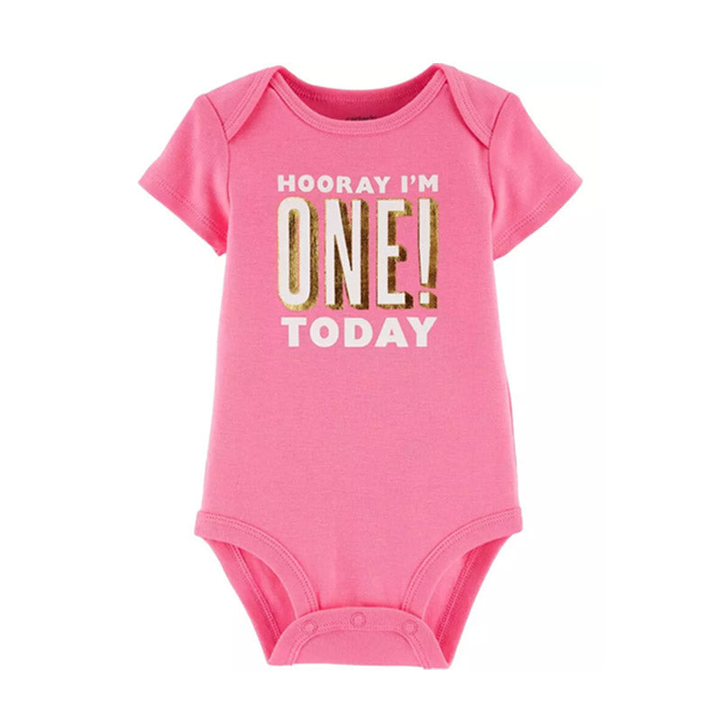 Carter's Girls Novelty Birthday Bodysuit, I'm One Today!