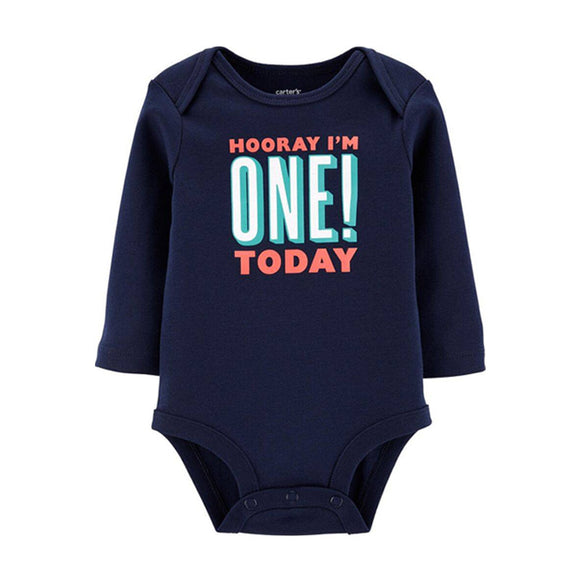 Carter's Boys Novelty Birthday Bodysuit, I'm One Today!