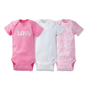 Gerber Girls 3-pk Onesies set, Love/Floral