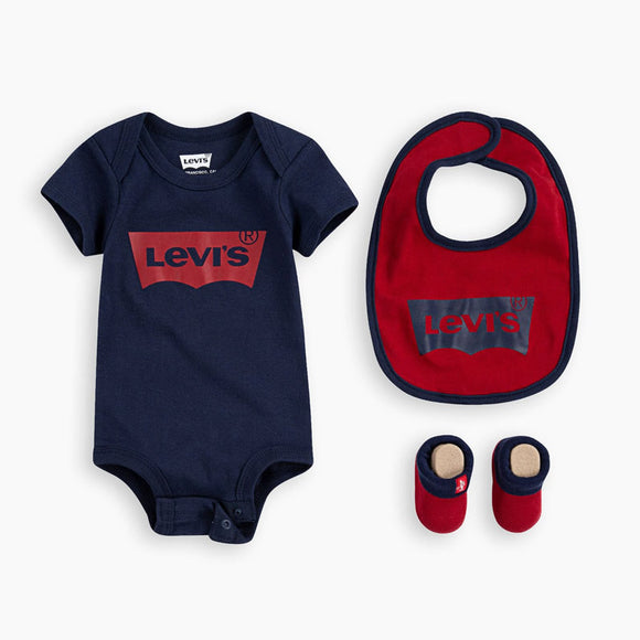 Levi's 3-pc Boys Gift set, Red/Navy