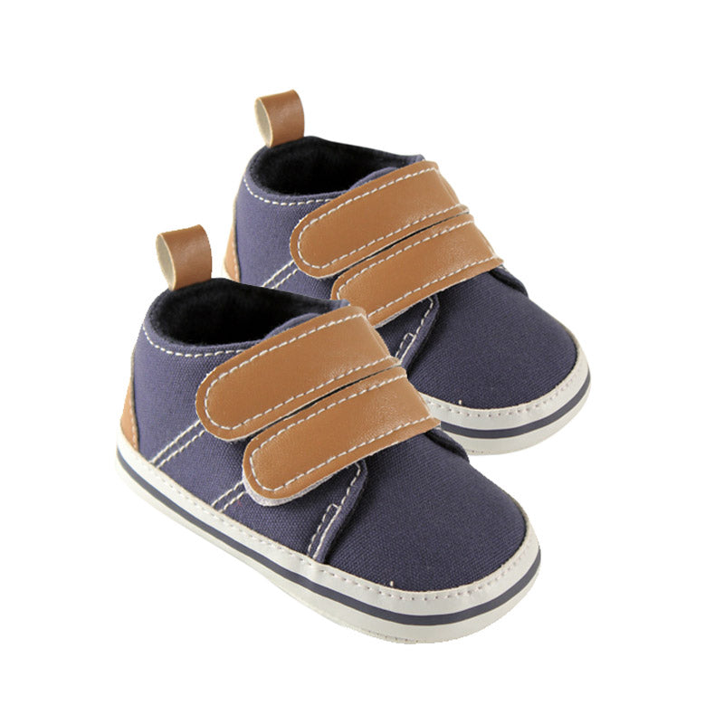 Luvable Friends Boys Crib Shoes, Navy