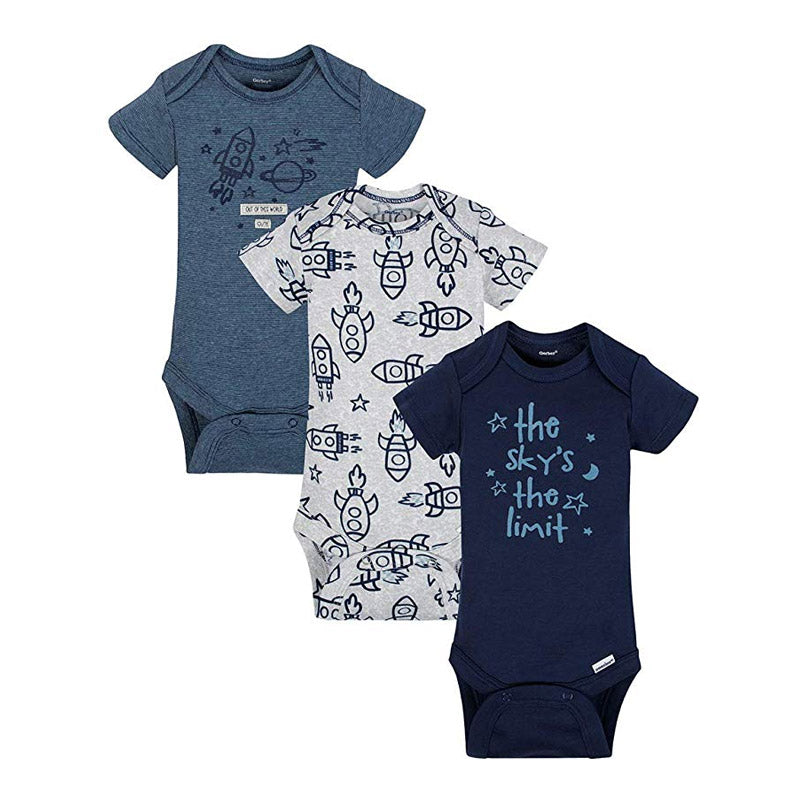 Gerber Boys 3-pk Onesies set, Rockets (100% organic cotton)