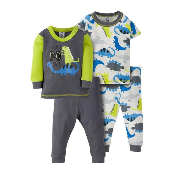 Gerber Boys 4-pc Snug Fit Pajama set, Dino