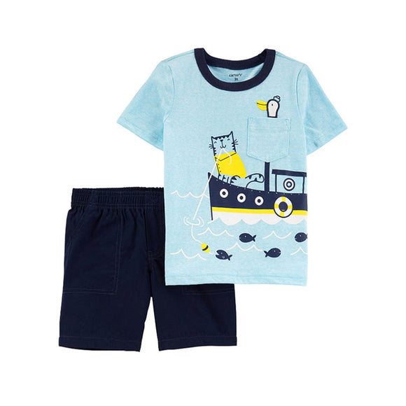 Carter's Boys 2-pc T-shirt & Shorts set, Nautical