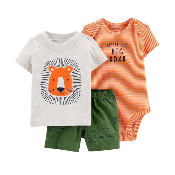 Carter's Boys 3-pc Bodysuit, T-shirt & Pant set, Big Roar