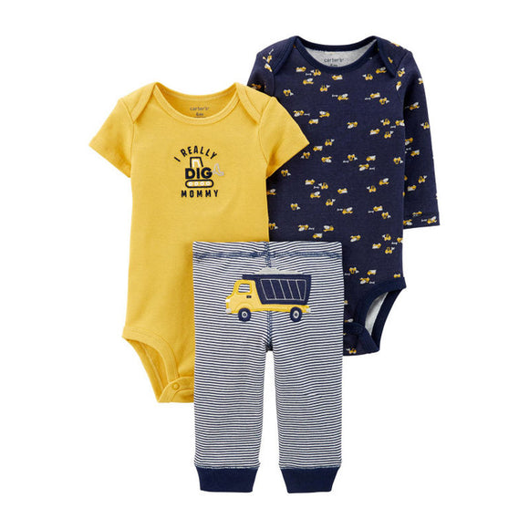 Carter's Boys 3-pc Bodysuit & Pant set, Tractors