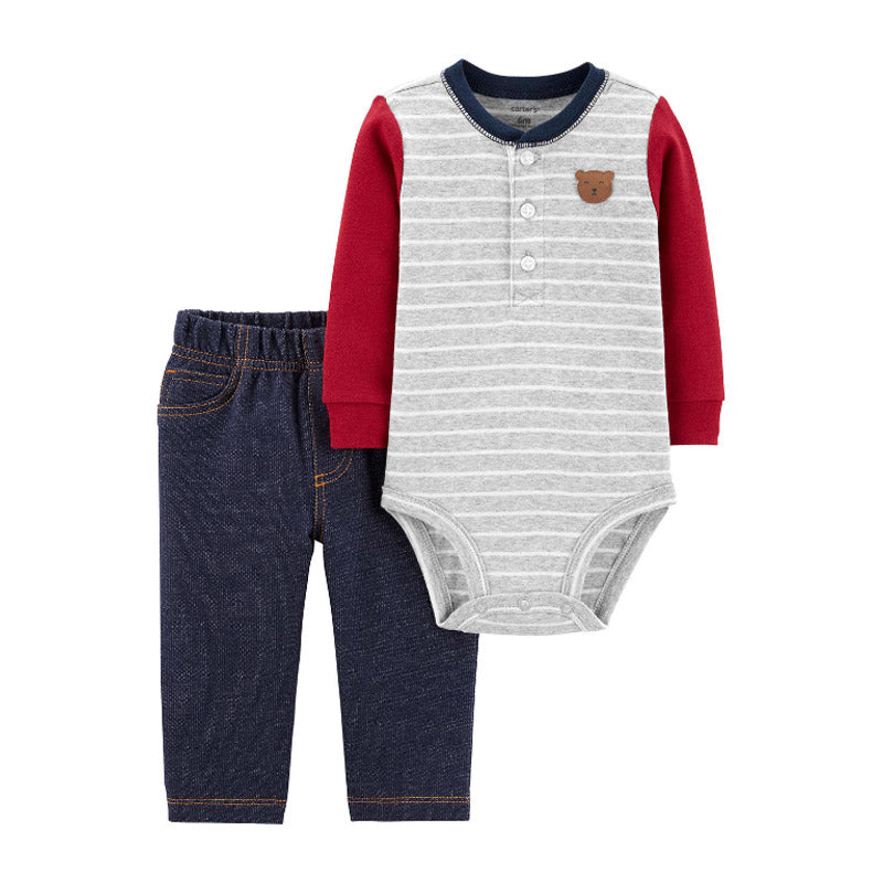 Carter's Boys 2-pc Long Sleeve Bodysuit & Jeans set, Little Bear