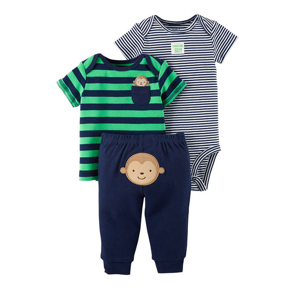 Child of Mine Boys 3-pc T-shirt, Bodysuit & Jogger set, Handsome Guy