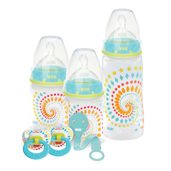 NUK Fashion Orthodontic Bottle & Pacifier Gift Set, Trendline Dots