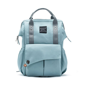 SoHo Collections Nolita Backpack Diaper Bag, Aqua