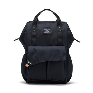 SoHo Collections Nolita Backpack Diaper Bag, Black